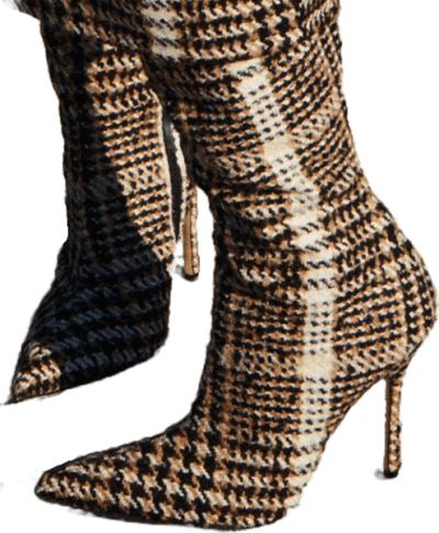 Plaid Fall 2019 Ready-To-Wear Boots-Carmen March