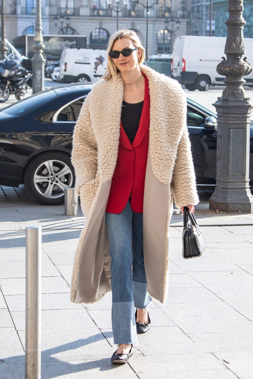 Karlie Kloss seen place Vendôme during Paris Fashion Week