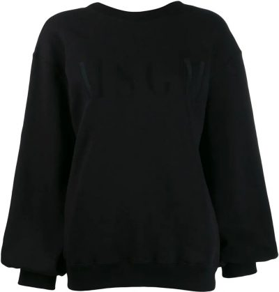Black Logo Embroidered Sweatshirt
