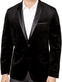 Black Mason Slim-Fit Velvet Blazer