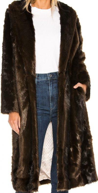 Brown The Fleurette Faux Fur Coat