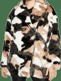Camo Print The Extra Mile Faux Fur Coat