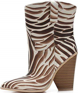 Cowgirl Pointed Toe Ankle Boots-Mackin J