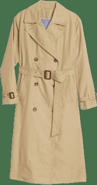 Khaki Twill Trench Coat