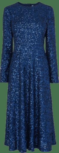 Midnight Lazia Navy Sequin Dress