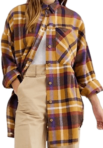 Multicolor Check Soft Flannel Oversized Shirt