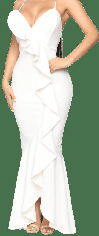 Off White Feel Like Dancing Maxi Dress