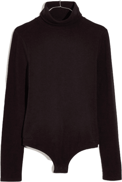 True Black Turtleneck Bodysuit