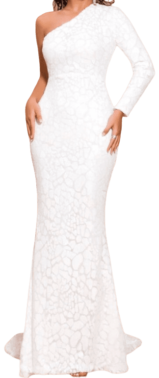 White One Sleeve Nyle Gown