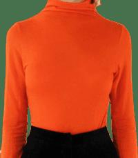 Beight Orange Long-Sleeve Turtleneck Top