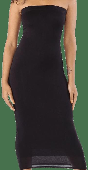 Black So Basic Bodycon Long Tube Dress