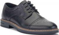 Black Spencer Cap Toe Oxford Shoe-XRay