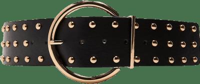 Black Studded Belt-Zara