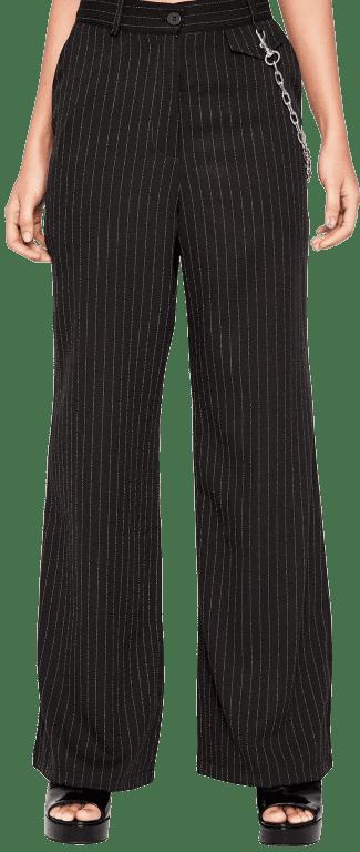 Black Success Story Wide Leg Pants