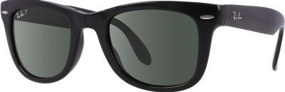 Black Wayfarer Folding Classic Sunglasses