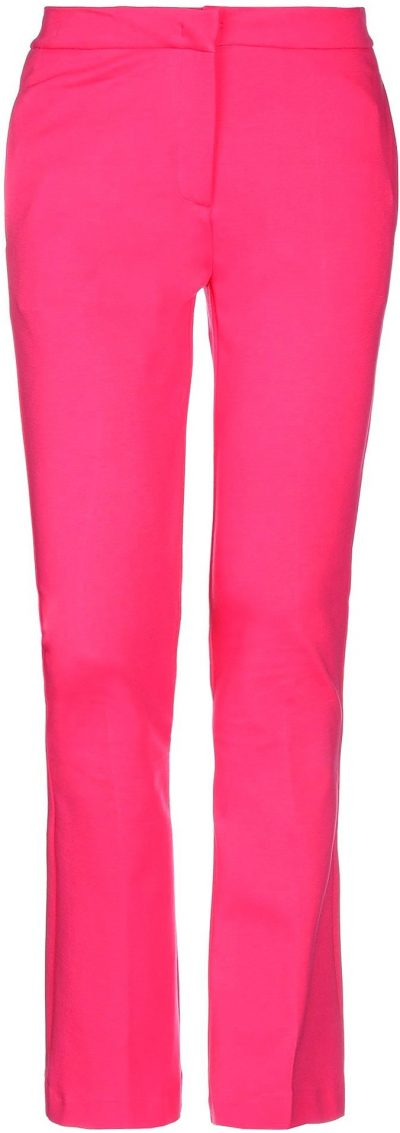 Fuchsia Casual Flare Pants-Jucca