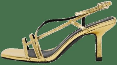 Gold Aadhya Strappy Heeled Sandals