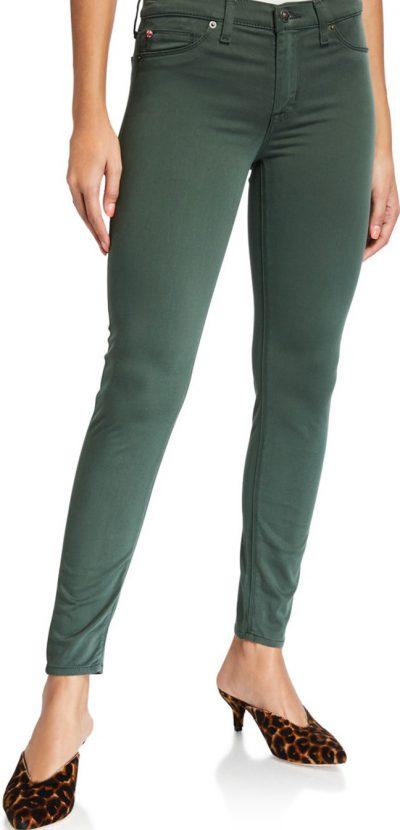 Green Natalie Ankle Super Skinny Jeans