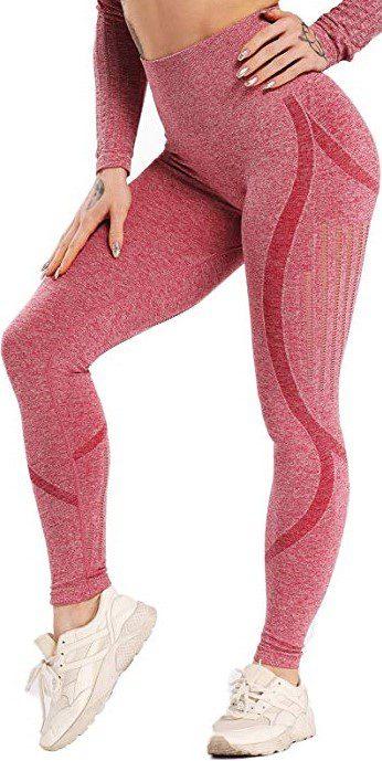 Lacer Cut Red Compression Leggings-Seasum
