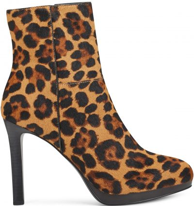 Leopard Pattern Querida Casual Booties