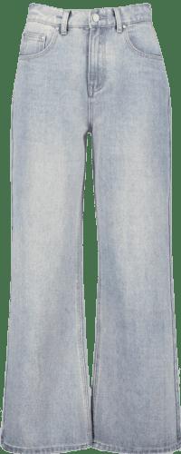 Light Blue High-Rise Rigid Wide-Leg Jeans