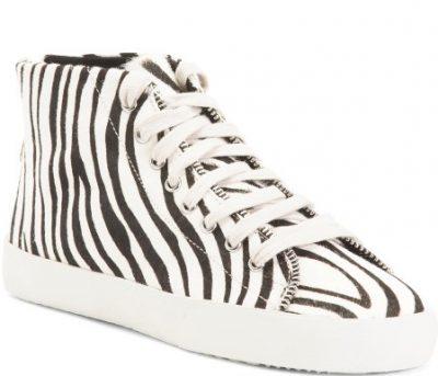 Zebra Haircalf Sneakers-Rebecca Minkoff