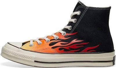 Black Chuck Taylor 1970s Hi Flames Sneakers-Converse