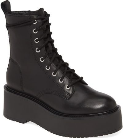 Black Twister Lace-Up Boot-Steve Madden