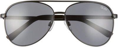 Black Vivienne 60mm Aviator Sunglasses-Quay
