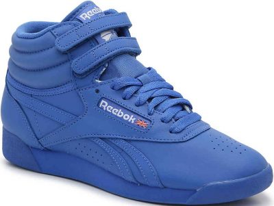 Blue Freestyle Hi High-Top Leather Sneaker-Reebok