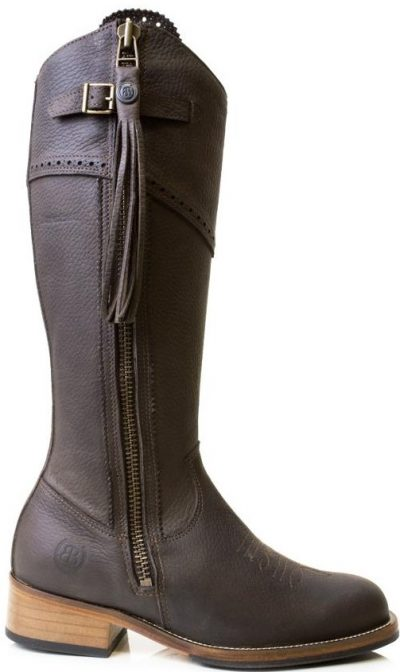 Brown Mustang Mid Calf Boots