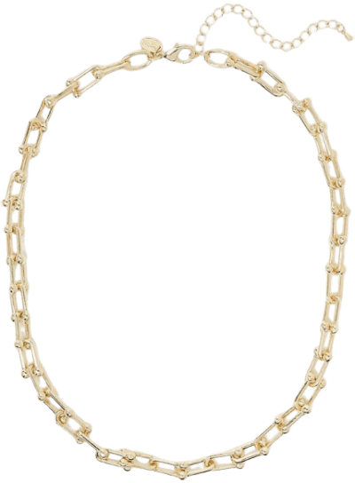 Gold Ball Link Necklace