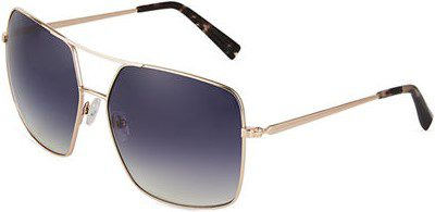 Gold Square Metal Sunglasses-Kendall + Kylie