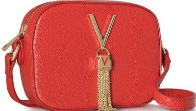 Red Lizard Embossed Divina Mini Crossbody Bag