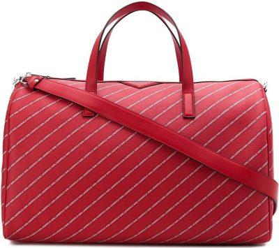 Ruby Red Stripe Logo Weekender