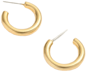 Vintage Gold Chunky Small Hoop Earrings