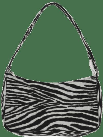 White Zebra Pattern Mini Shoulder Bag