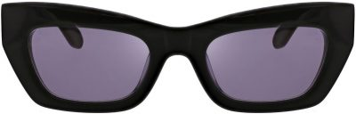 Black Thick Frame Kitten Sunglasses