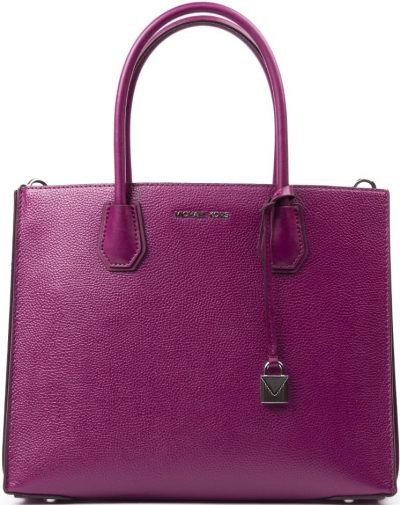 Fuchsia Big Mercer Leather Tote Bag