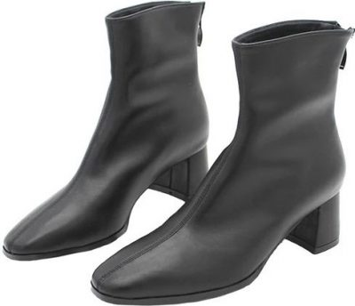 Gabriele Faux Leather Heeled Ankle Boots-Goodnight Macaroon