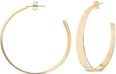 Gold Graduated Hoop Earrings-Sterling Forever