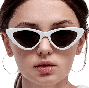 Milk Cat-Eye Resin Sunglasses