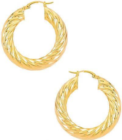 Gold Gina Hoops
