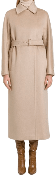 Beige Double Camel And Cashmere Jago Belted Coat-Max Mara
