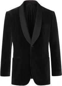 Black Bespoke Velvet Jacket