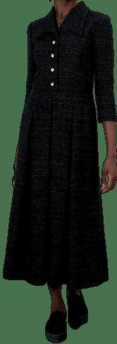 Black Bouclé Dress-Eponine
