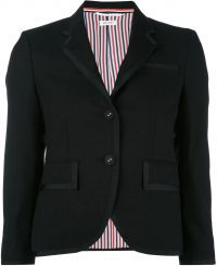 Black Classic Single Breasted Sport Coat-Thom Browne