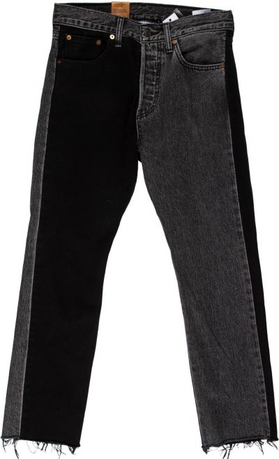 Black Mid-Rise Straight-Leg Jeans With Tags