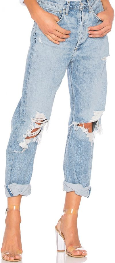 Blue 90s High Rise Loose Fit Jeans