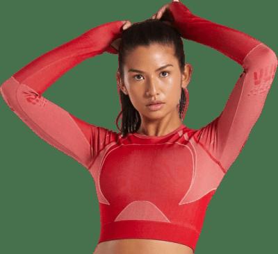 Brick Red Turbo Seamless Crop Top-Gymshark